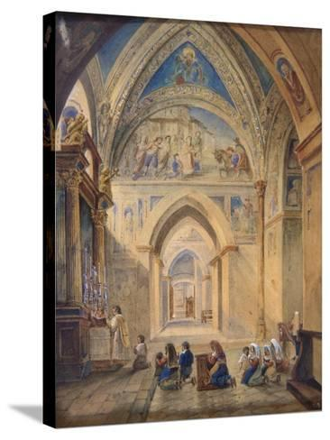 Interior of the Church of St Nicholas, Bari, Italy--Stretched Canvas Print