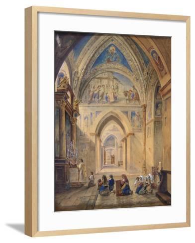 Interior of the Church of St Nicholas, Bari, Italy--Framed Art Print