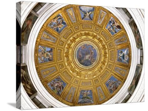 Ceiling of the Chigi Chapel, Santa Maria Del Popolo, Rome--Stretched Canvas Print