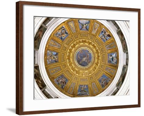 Ceiling of the Chigi Chapel, Santa Maria Del Popolo, Rome--Framed Art Print