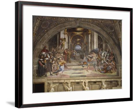 The Expulsion of Heliodorus from the Temple, Stanza Di Eliodoro, 1511-12-Raphael-Framed Art Print