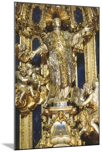 Niche with Statue of St Ignatius, Church of the Gesù, Rome--Mounted Photographic Print