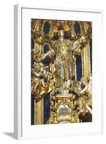 Niche with Statue of St Ignatius, Church of the Gesù, Rome--Framed Art Print