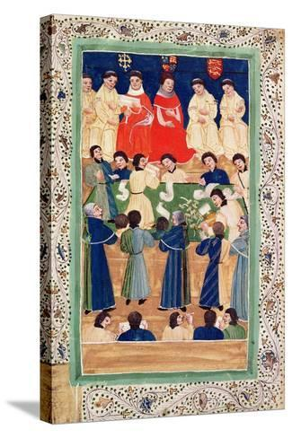 The Court of Chancery, C.1460--Stretched Canvas Print