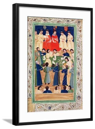 The Court of Chancery, C.1460--Framed Art Print