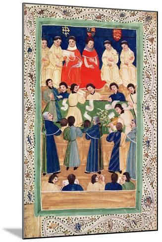 The Court of Chancery, C.1460--Mounted Giclee Print