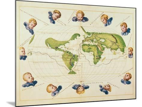 Map of Magellan's Voyage around the World, C.1540-Battista Agnese-Mounted Giclee Print