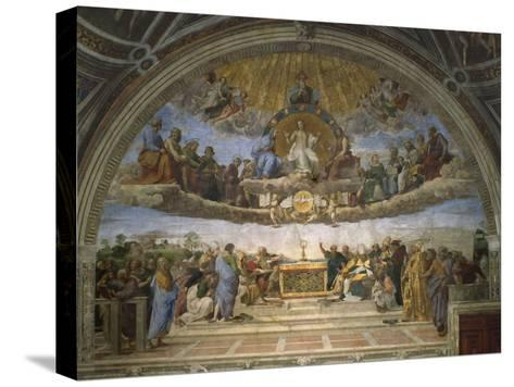 The Disputation of the Holy Sacrament, from the Stanza Della Segnatura, 1509-10-Raphael-Stretched Canvas Print