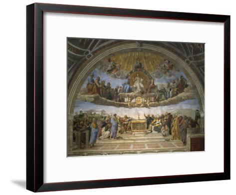 The Disputation of the Holy Sacrament, from the Stanza Della Segnatura, 1509-10-Raphael-Framed Art Print