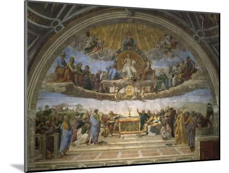 The Disputation of the Holy Sacrament, from the Stanza Della Segnatura, 1509-10-Raphael-Mounted Giclee Print