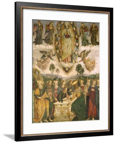 The Assumption of the Virgin-Bernardino di Betto Pinturicchio-Framed Art Print