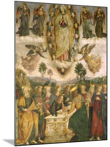 The Assumption of the Virgin-Bernardino di Betto Pinturicchio-Mounted Giclee Print