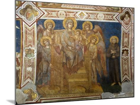 Madonna and Child Enthroned with Angels and St Francis of Assisi-Giovanni Cimabue-Mounted Giclee Print