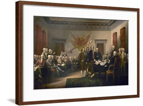 Signing the Declaration of Independence, July 4th, 1776-John Trumbull-Framed Art Print
