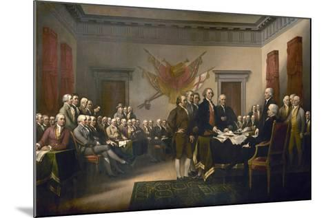 Signing the Declaration of Independence, July 4th, 1776-John Trumbull-Mounted Giclee Print