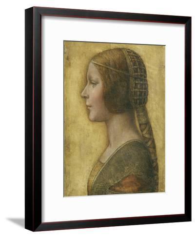 Profile of a Young Fiancee-Leonardo da Vinci-Framed Art Print