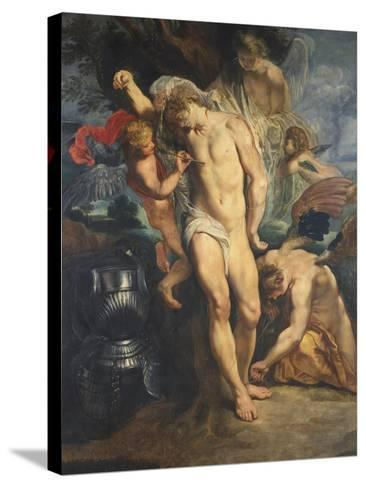 Saint Sebastian Tended by Angels, 1601-02-Peter Paul Rubens-Stretched Canvas Print