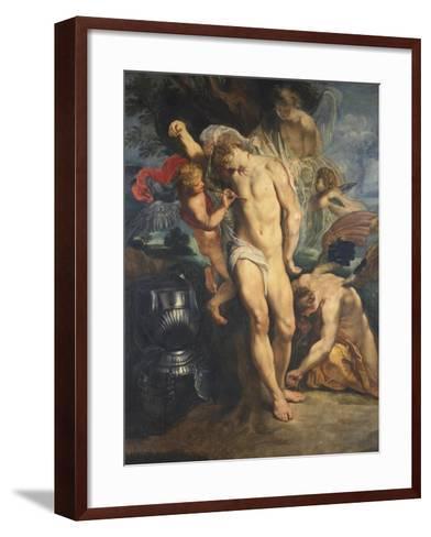 Saint Sebastian Tended by Angels, 1601-02-Peter Paul Rubens-Framed Art Print
