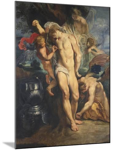 Saint Sebastian Tended by Angels, 1601-02-Peter Paul Rubens-Mounted Giclee Print