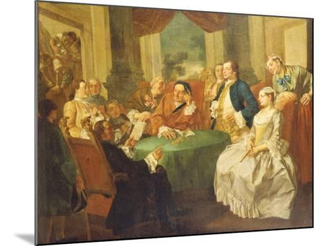 The Marriage Contract-Gaspare Traversi-Mounted Giclee Print
