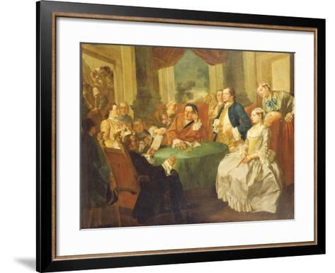 The Marriage Contract-Gaspare Traversi-Framed Art Print