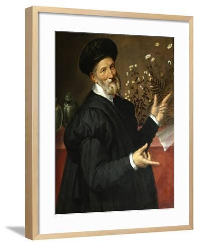 The Botanist-Bartolomeo Passarotti-Framed Art Print