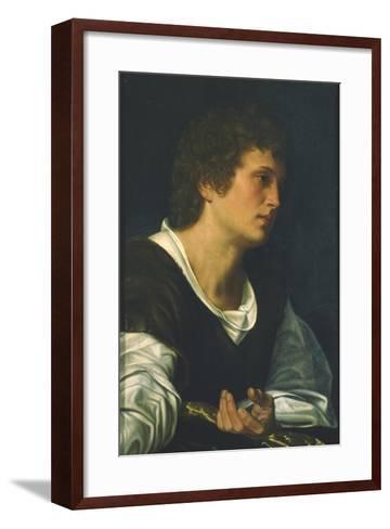 St. John the Evangelist-Giovanni Girolamo Savoldo-Framed Art Print