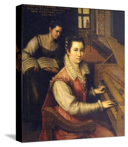 Self Portrait at the Spinet, 1578-Lavinia Fontana-Stretched Canvas Print
