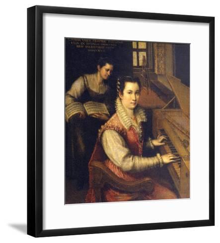 Self Portrait at the Spinet, 1578-Lavinia Fontana-Framed Art Print