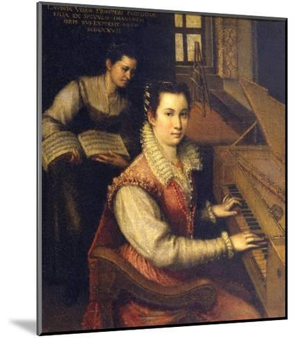 Self Portrait at the Spinet, 1578-Lavinia Fontana-Mounted Giclee Print
