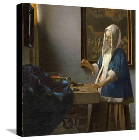 Woman Holding a Balance, C.1664-Johannes Vermeer-Stretched Canvas Print