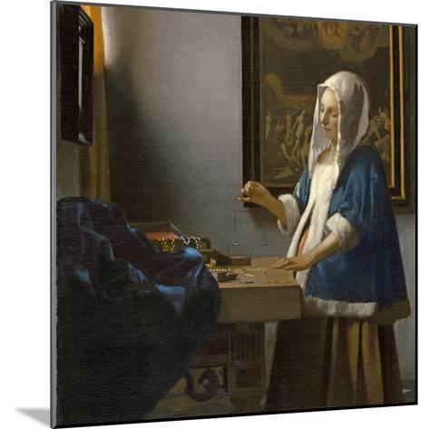 Woman Holding a Balance, C.1664-Johannes Vermeer-Mounted Giclee Print