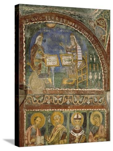 Hippocrates and Galen, Crypt of Anagni Cathedral--Stretched Canvas Print