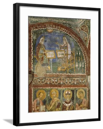 Hippocrates and Galen, Crypt of Anagni Cathedral--Framed Art Print