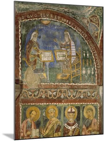 Hippocrates and Galen, Crypt of Anagni Cathedral--Mounted Giclee Print