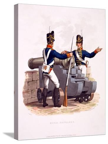 Uniform of the Royal Artillery, from 'Costume of the British Empire, According to the Last…-Charles Hamilton Smith-Stretched Canvas Print