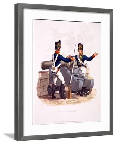 Uniform of the Royal Artillery, from 'Costume of the British Empire, According to the Last…-Charles Hamilton Smith-Framed Art Print