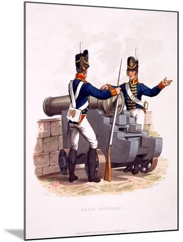Uniform of the Royal Artillery, from 'Costume of the British Empire, According to the Last…-Charles Hamilton Smith-Mounted Giclee Print