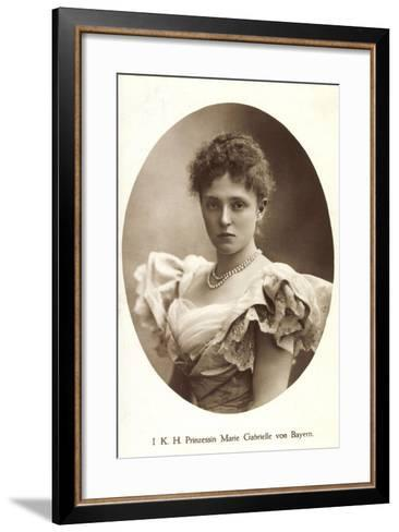 Ak I.K.H. Prinzessin Rupprecht Von Bayern Wittelsbach, Marie Gabrielle--Framed Art Print