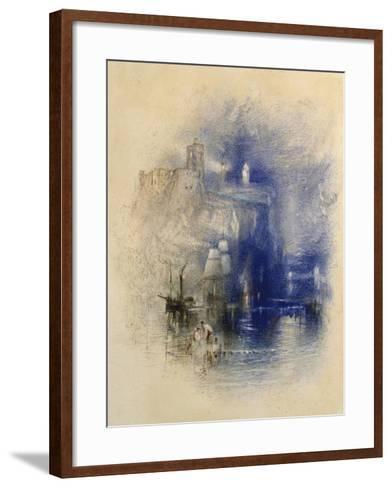 Light-Towers of La Hève, C.1844-J^ M^ W^ Turner-Framed Art Print