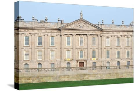 West Front, Chatsworth House, Derbyshire--Stretched Canvas Print