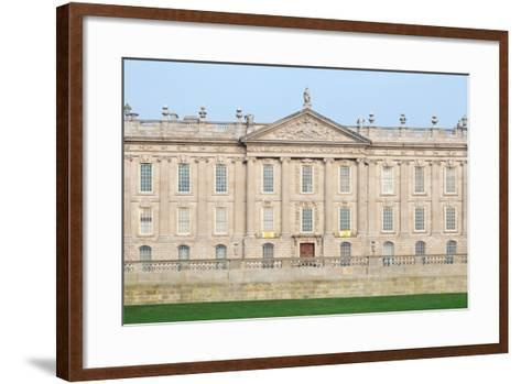 West Front, Chatsworth House, Derbyshire--Framed Art Print