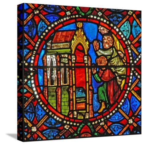 Window S4 Depicting St Agatha's Tomb with Pilgrims from Far and Wide--Stretched Canvas Print