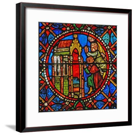 Window S4 Depicting St Agatha's Tomb with Pilgrims from Far and Wide--Framed Art Print