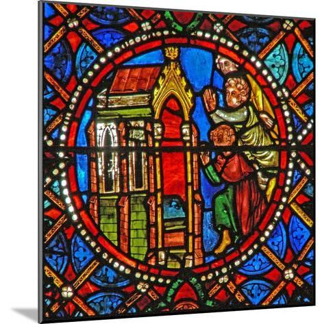 Window S4 Depicting St Agatha's Tomb with Pilgrims from Far and Wide--Mounted Giclee Print
