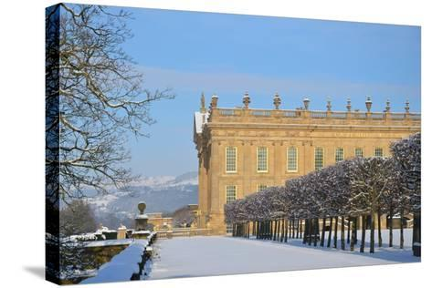 South Front, Chatsworth House, Derbyshire--Stretched Canvas Print