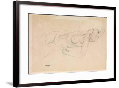 Reclining Nude-F?lix Vallotton-Framed Art Print