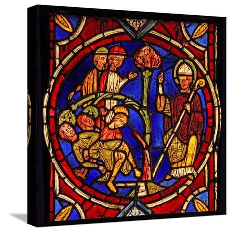 Depicting St Martin - and the Miracle of the Pine Tree (Ex Varennes-Jarcy - Originally from the…--Stretched Canvas Print