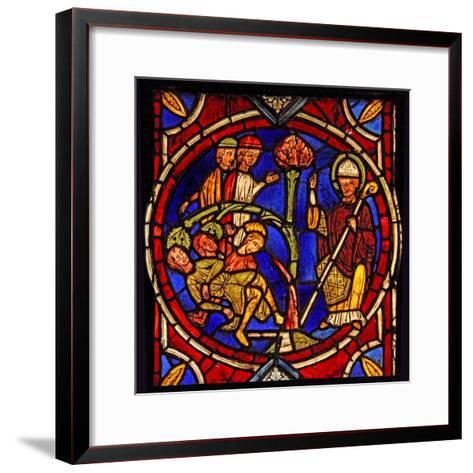 Depicting St Martin - and the Miracle of the Pine Tree (Ex Varennes-Jarcy - Originally from the…--Framed Art Print