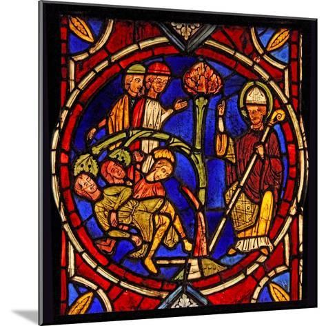 Depicting St Martin - and the Miracle of the Pine Tree (Ex Varennes-Jarcy - Originally from the…--Mounted Giclee Print